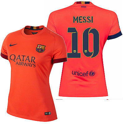 NIKE LIONEL MESSI FC BARCELONA WOMENS AWAY JERSEY 2014/15