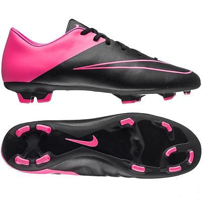 NIKE MERCURIAL VICTORY V FG FIRM GROUND SOCCER CR7 SHOE FOOTBALL Black/Hyper Pin