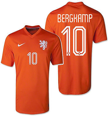 sports shoes 06c3e 87833 NIKE DENNIS BERGKAMP NETHERLANDS HOME JERSEY FIFA WORLD CUP BRAZIL 2014.