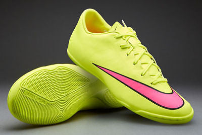 Nike Mercurial Victory V IC  Volt/Black/Hyper Pink Indoor Soccer Shoes.