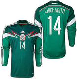 ADIDAS CHICHARITO MEXICO LONG SLEEVE HOME JERSEY FIFA WORLD CUP 2014 1
