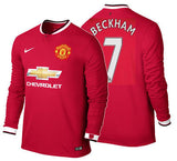 Nike Beckham Manchester United Long Sleeve Home Jersey 2014/15 611038-624