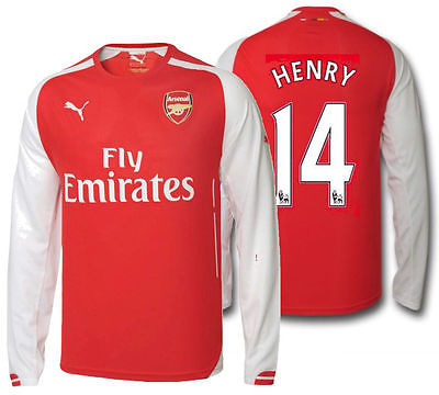 PUMA THIERRY HENRY ARSENAL HOME LONG SLEEVE JERSEY 2014/15.