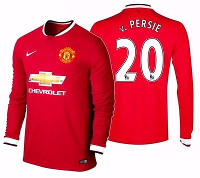 Nike Robin van Persie Manchester United Long Sleeve Home Jersey 2014/15 611038-624