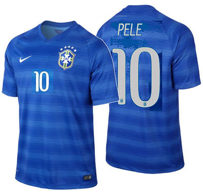 NIKE PELE BRAZIL AWAY JERSEY FIFA WORLD CUP 2014 1