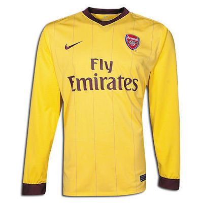 NIKE ARSENAL LONG SLEEVE AWAY JERSEY FOOTBALL 2010/11