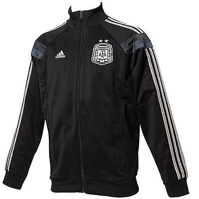 ADIDAS ARGENTINA ANTHEM TRACK JACKET FIFA WORLD CUP BRAZIL 2014 Black/Silver.