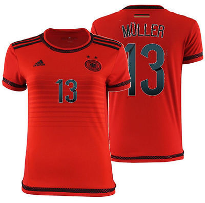 ADIDAS THOMAS MULLER GERMANY WOMEN'S AWAY JERSEY 2015/16.