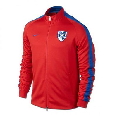 NIKE USA USMNT AUTHENTIC N98 TRACK JACKET FIFA WORLD CUP 2014 Red.