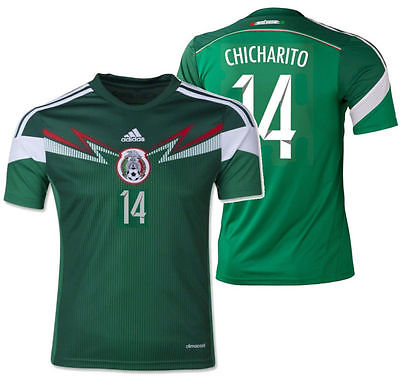 ADIDAS CHICHARITO MEXICO YOUTH HOME JERSEY FIFA WORLD CUP BRAZIL 2014.
