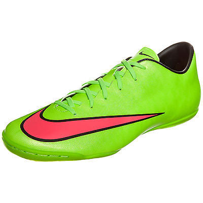 d9e958f65aa ... NIKE MERCURIAL VICTORY V IC INDOOR SOCCER CR7 SHOES FOOTBALL Electric  Green ...