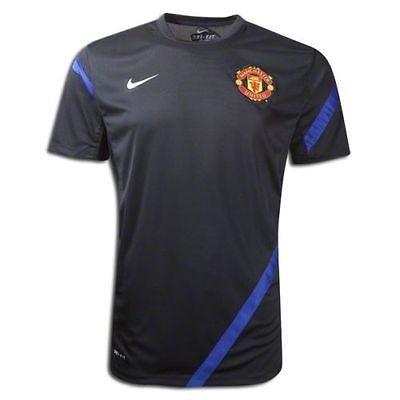 NIKE MANCHESTER UNITED TRAINING TOP Black/Royal.