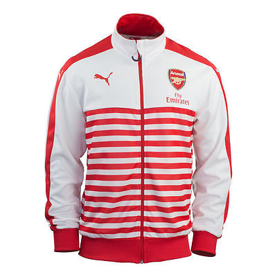 puma jacket red and white