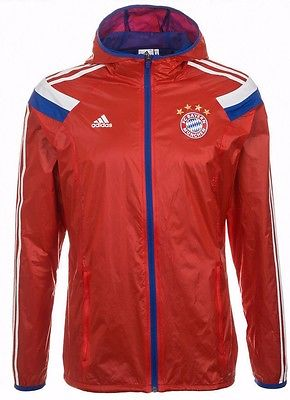 ADIDAS BAYERN MUNICH WOVEN ANTHEM JACKET Red/Blue/White.