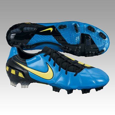 NIKE TOTAL 90 LASER III FG FIRM GROUND SOCCER SHOES Neptune Blue/Yellow/Black