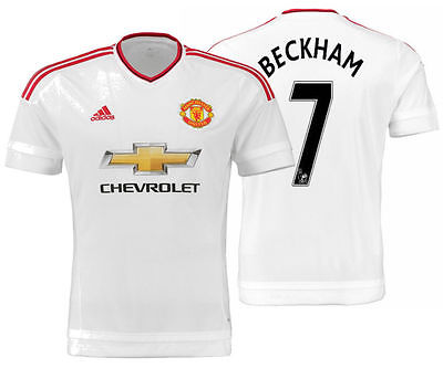 ADIDAS DAVID BECKHAM MANCHESTER UNITED AWAY JERSEY 2015/16.
