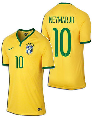 NIKE NEYMAR JR BRAZIL AUTHENTIC MATCH HOME JERSEY FIFA WORLD CUP 2014.