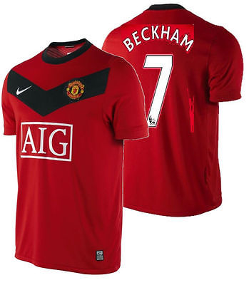 NIKE DAVID BECKHAM MANCHESTER UNITED HOME JERSEY 2009/10.