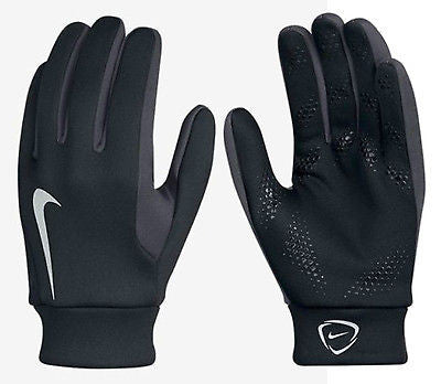 NIKE HYPERSHIELD FIELD PLAYER GLOVES TRAINING SOCCER Black/Gray.