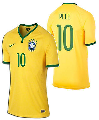 NIKE PELE BRAZIL AUTHENTIC HOME MATCH JERSEY FIFA WORLD CUP BRASIL 2014.