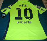 NIKE LIONEL MESSI FC BARCELONA UEFA CHAMPIONS LEAGUE AUTHENTIC MATCH THIRD  JERSEY 2014/15 11