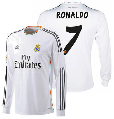 ADIDAS CRISTIANO RONALDO REAL MADRID LONG SLEEVE HOME JERSEY 2013/14