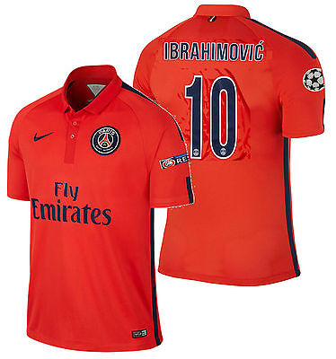 NIKE IBRAHIMOVIC PARIS SAINT-GERMAIN PSG UEFA CHAMPIONS LEAGUE 3RD JERSEY 2015.