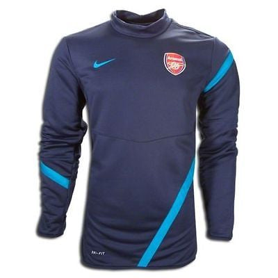 NIKE ARSENAL GUNNERS UEFA CHAMPIONS LEAGUE MIDLAYER TOP Obsidian/Turquoise.