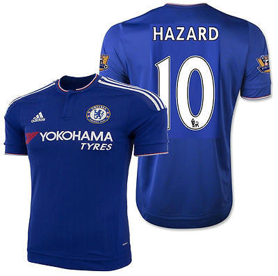 ADIDAS EDEN HAZARD CHELSEA FC AUTHENTIC HOME MATCH JERSEY 2015/16
