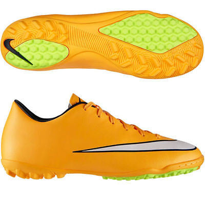 NIKE MERCURIAL VICTORY V TF TURF SOCCER CR7 SHOES Laser Orange