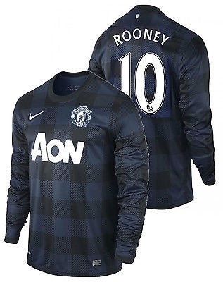 NIKE WAYNE ROONEY MANCHESTER UNITED LONG SLEEVE AWAY JERSEY 2013/14