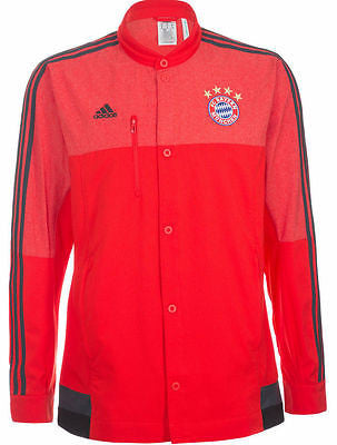 ADIDAS BAYERN MUNICH ANTHEM JACKET Red/Black.