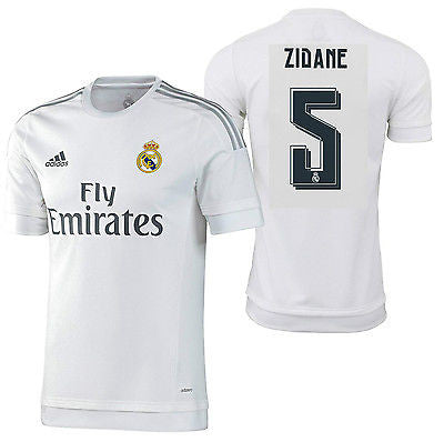 ADIDAS ZINEDINE ZIDANE REAL MADRID AUTHENTIC HOME MATCH JERSEY 2015/16
