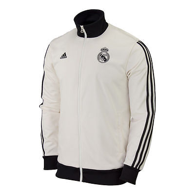ADIDAS REAL MADRID TRACK TOP JACKET White/Black 0