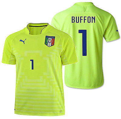 PUMA ITALY G. BUFFON GOALKEEPER HOME JERSEY FIFA WORLD CUP BRAZIL 2014