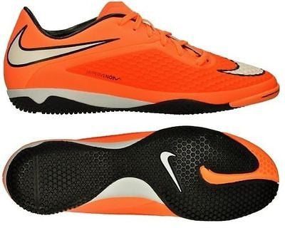NIKE HYPERVENOM PHELON IC INDOOR SOCCER FUTSAL SHOES Hyper Crimson/Atomic Orange