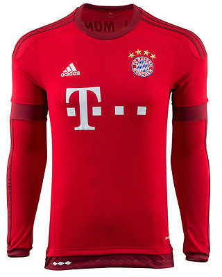 ADIDAS BAYERN MUNICH LONG SLEEVE HOME JERSEY 2015/16 S08806