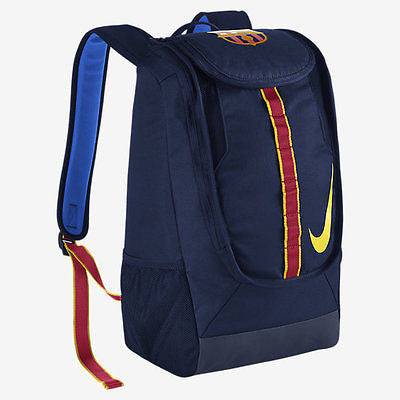 NIKE FC BARCELONA ALLEGIANCE SHIELD COMPACT SOCCER BACKPACK Midnight Navy/Midnight.