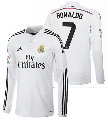 ADIDAS CRISTIANO RONALDO REAL MADRID LONG SLEEVE HOME JERSEY 2014/15