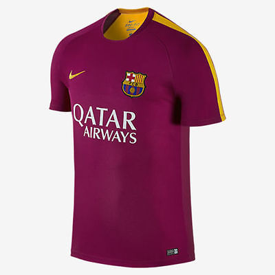 NIKE FC BARCELONA PRE MATCH TRAINING TOP Dynamic Berry/Gold