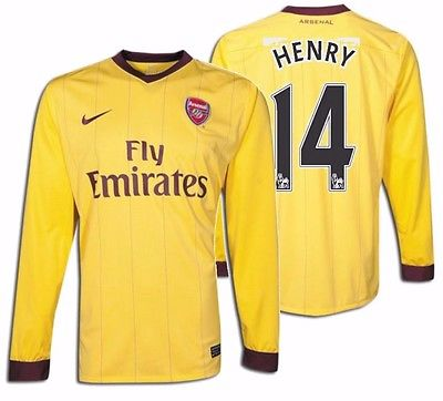 NIKE THIERRY HENRY ARSENAL LONG SLEEVE AWAY JERSEY 2010/11.