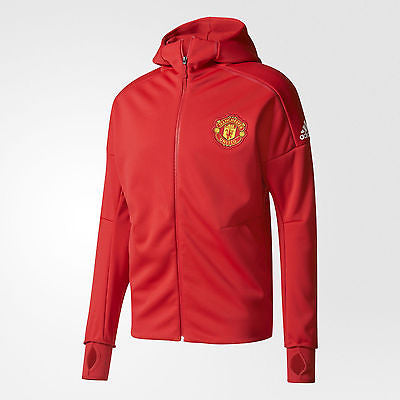 ADIDAS MANCHESTER UNITED ANTHEM Z.N.E. HOODIE ZNE Red/White.