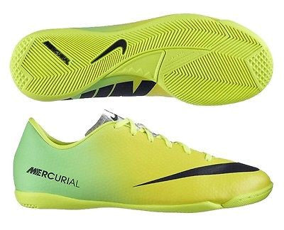 80f926c2d NIKE MERCURIAL VICTORY IV IC INDOOR SOCCER SHOES FOOTBALL Vibrant Yell –  REALFOOTBALLUSA.NET