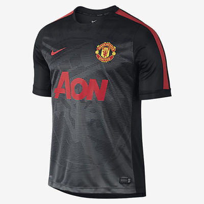 NIKE MANCHESTER UNITED SQUAD PRE-MATCH TOP Black.