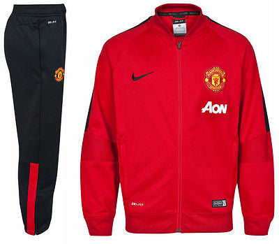 NIKE MANCHESTER UNITED SQUAD SIDELINE KNIT WARM UP TRACKSUIT 2014/15 Red