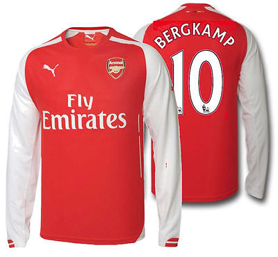 PUMA DENNIS BERGKAMP ARSENAL HOME LONG SLEEVE JERSEY 2014/15.
