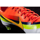 NIKE CR7 MERCURIAL VAPOR IX CR FG ACC FIRM GROUND SOCCER SHOES White/Total Crimson 4