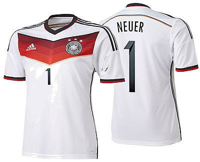 ADIDAS MANUEL NEUER GERMANY AUTHENTIC ADIZERO HOME JERSEY FIFA WORLD CUP 2014
