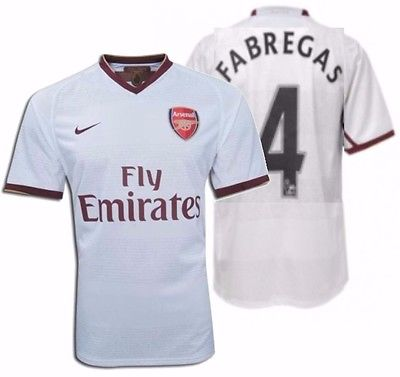 NIKE CESC FABREGAS ARSENAL AWAY JERSEY 2007/08.