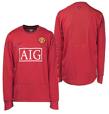 NIKE MANCHESTER UNITED LONG SLEEVE LIGHTWEIGHT TRAINING TOP Red/Blue.